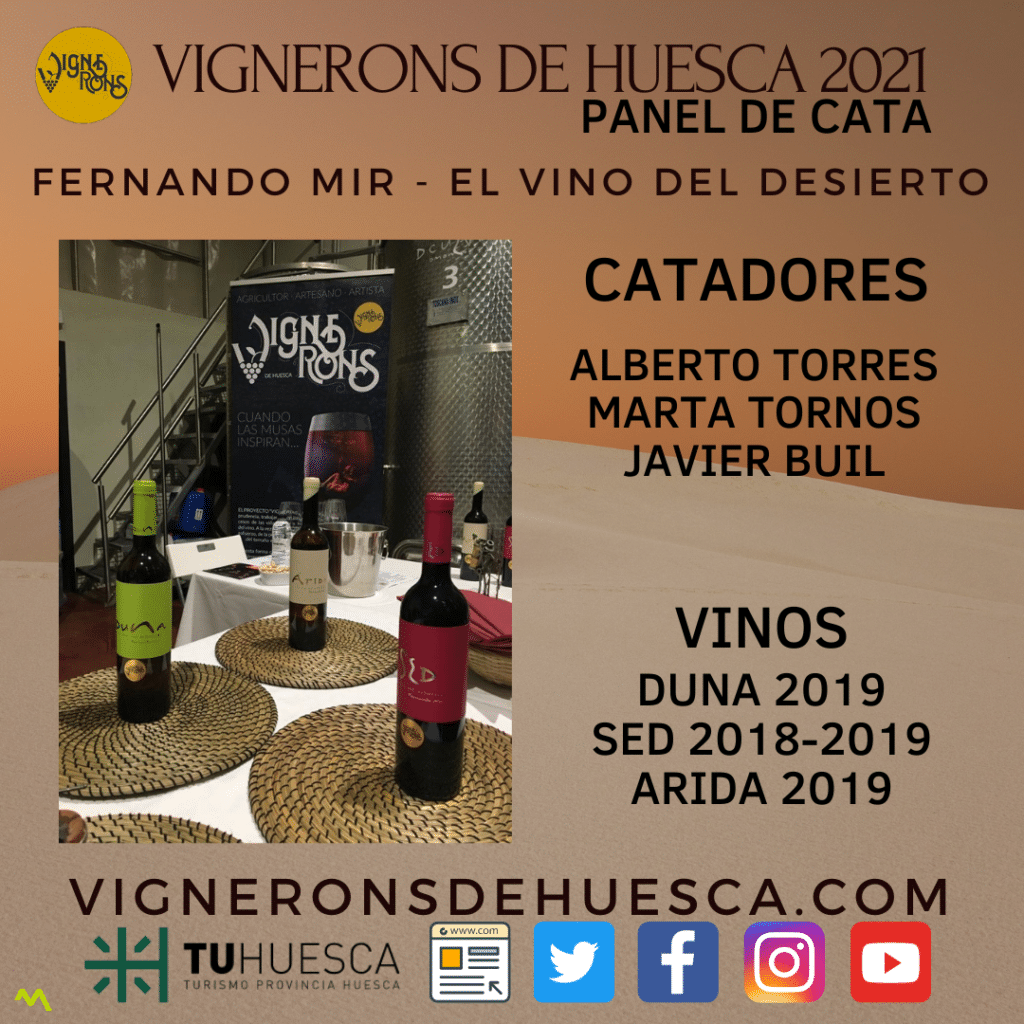 Vignerons 2021 - Panel de Cata - Fernando Mir El Vino del Desierto