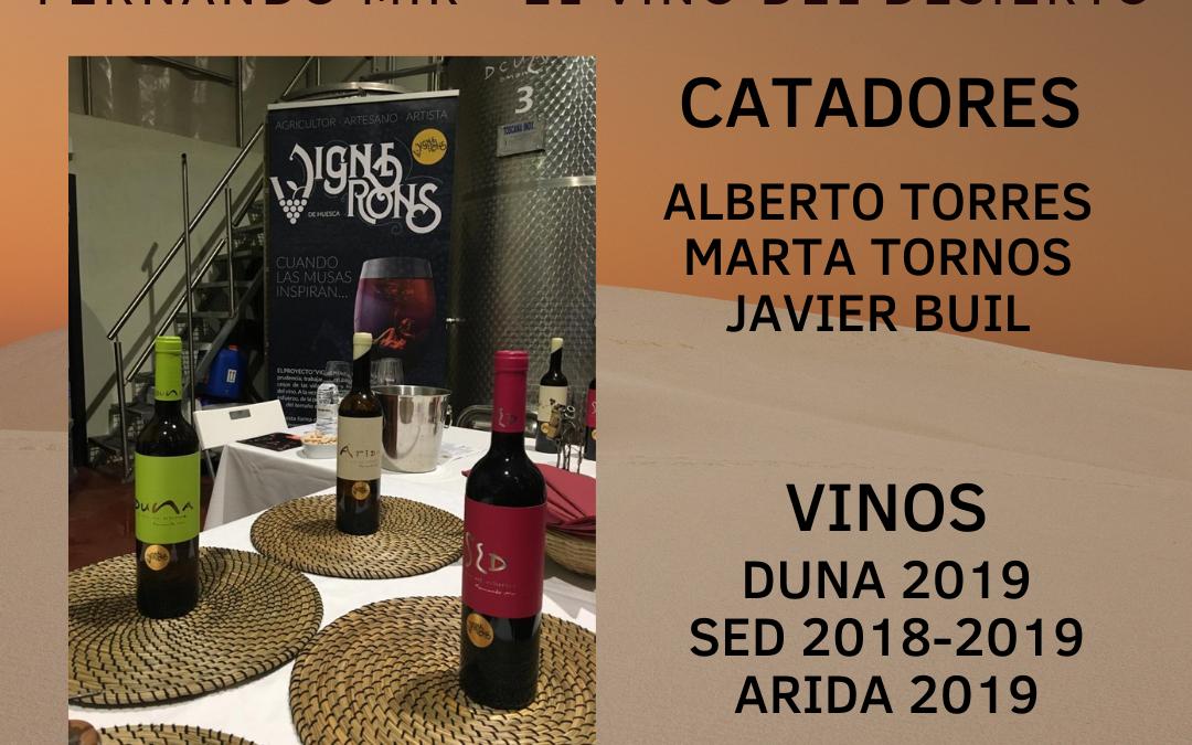 Vignerons 2021 – Panel de Cata – Fernando Mir El Vino del Desierto
