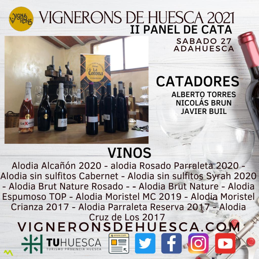Vignerons de Huesca 2021 Panel de Cata II – Adahuesca – Bodegas Alodia - Sábado 27 de Febrero