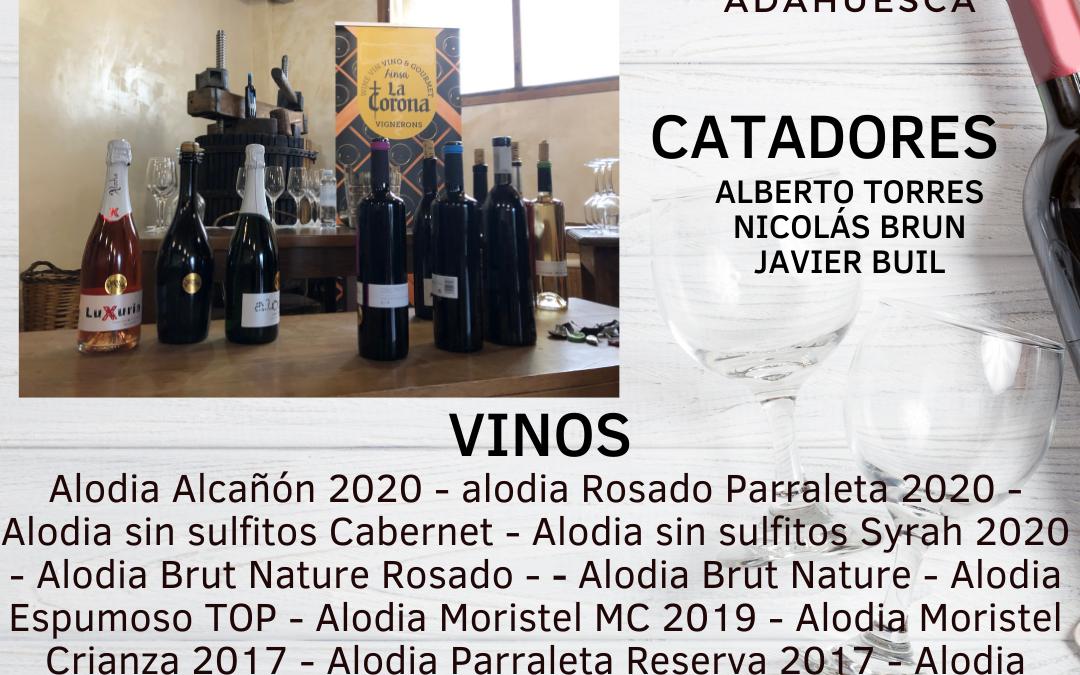 Vignerons de Huesca 2021 Panel de Cata II – Adahuesca – Bodegas Alodia  – Sábado 27 de Febrero